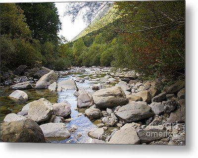 river in Ainsa Metal Print