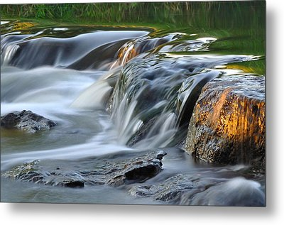 River In Slow Motion Metal Print