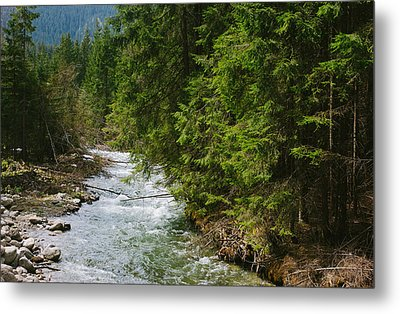 River In The Mountains Metal Print by Pati Photography