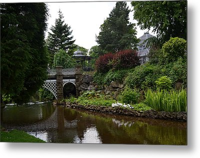 Metal Print featuring the photograph River In The Park by Karen Kersey