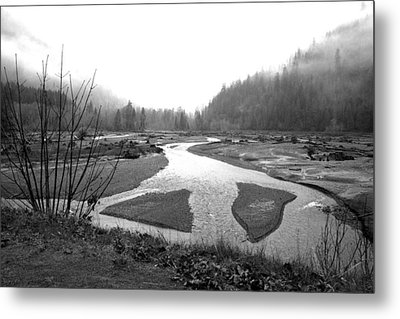 River In The Rain Metal Print by Gordon  Grimwade