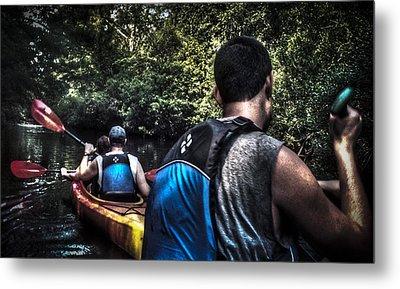 River Kayaking Metal Print by Deborah Klubertanz