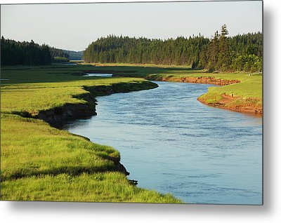 River Near Alma  New Brunswick, Canada Metal Print by Carl Bruemmer