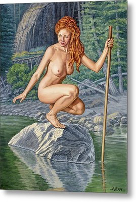 River Nymph Metal Print by Paul Krapf