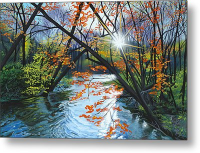 River Of Joy Metal Print by Lynn Hansen