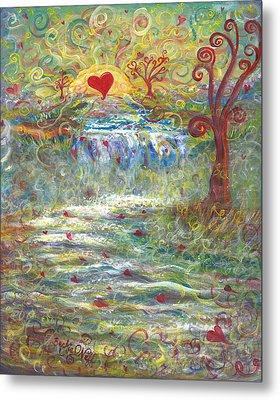 River Of Love Metal Print by Beckie J Neff