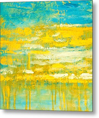 Metal Print featuring the painting River Of Praise by Donna Dixon