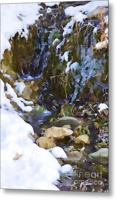 River Painting Metal Print by Donna Greene