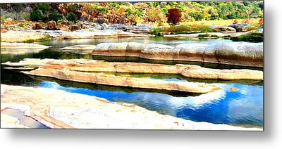 Metal Print featuring the photograph River Paradise by David  Norman