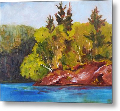 River Point Metal Print by Nancy Merkle
