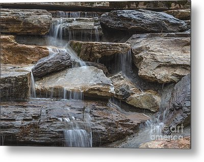 River Rock Waterfall Metal Print