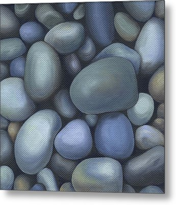 River Rocks Metal Print by Natasha Denger