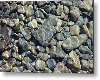 Metal Print featuring the photograph River Rocks One by Chris Thomas