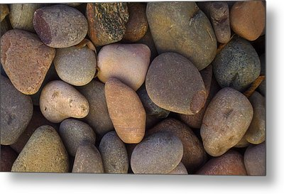 Metal Print featuring the photograph River Rocks by Richard Stephen