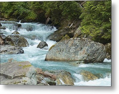 River Rocks Metal Print by Sylvia Hart