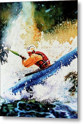 River Rush Metal Print by Hanne Lore Koehler
