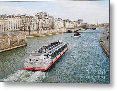 River Seine Excursion Boats Metal Print
