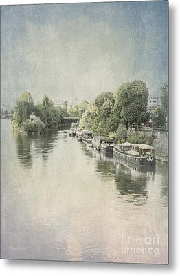 River Seine In Paris Metal Print
