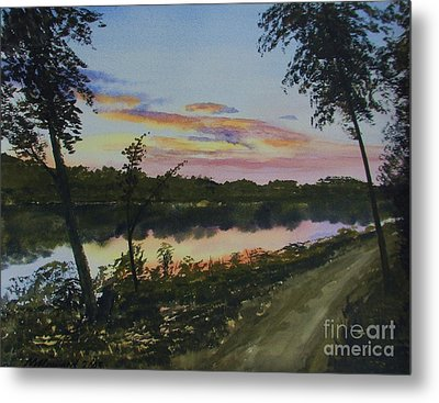 River Sunset Metal Print by Martin Howard