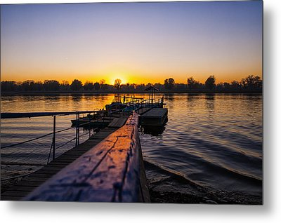 River Sunset Metal Print by Svetlana Sewell