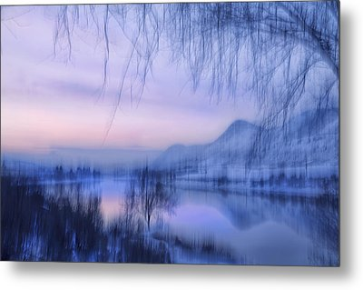 River Sunset Metal Print