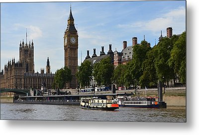 River Thames View Metal Print