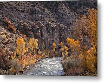River Through The Aspen Metal Print by David Kehrli