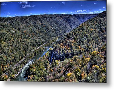 River Through The Hills Metal Print