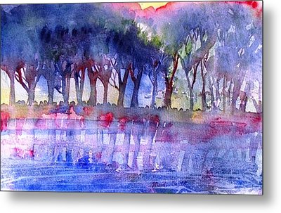 River Trees  Metal Print by Trudi Doyle