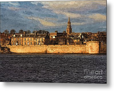 Metal Print featuring the photograph River Tweed At Berwick - Photo Art by Les Bell