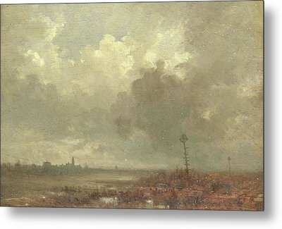 River View In Evening, Adolphe Mouilleron Metal Print