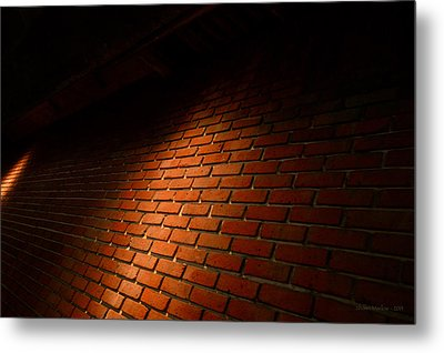 River Walk Brick Wall Metal Print