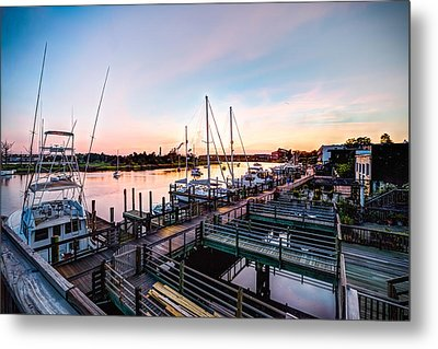 River Walk In Georgetown Metal Print