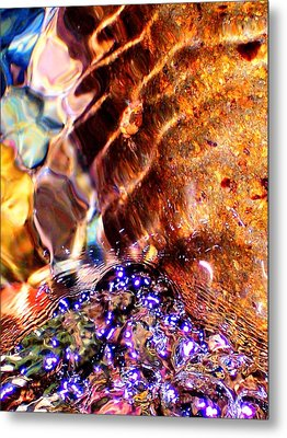River Water Abstract Metal Print
