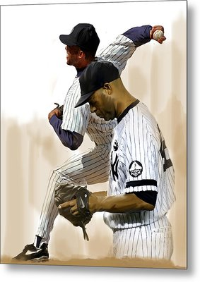 Rivera   Mariano Rivera  Metal Print by Iconic Images Art Gallery David Pucciarelli