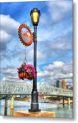 Riverboat Lamp Metal Print by Mel Steinhauer