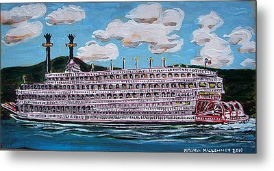 Riverboat Queen Metal Print by Mitchell McClenney