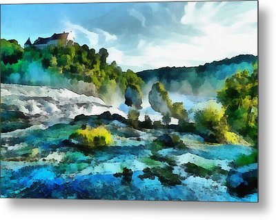 Riverscape Metal Print by Ayse Deniz