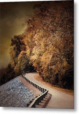 Riverside Drive In Autumn - Landscape Metal Print by Jai Johnson