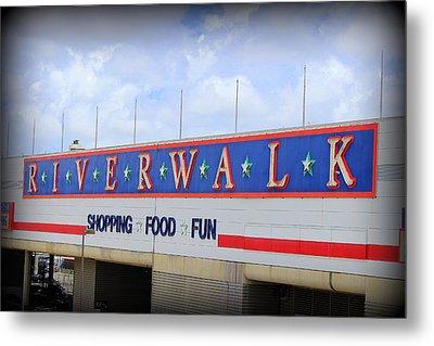 Riverwalk Metal Print by Beth Vincent