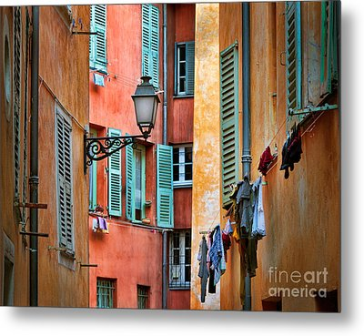 Riviera Alley Metal Print by Inge Johnsson