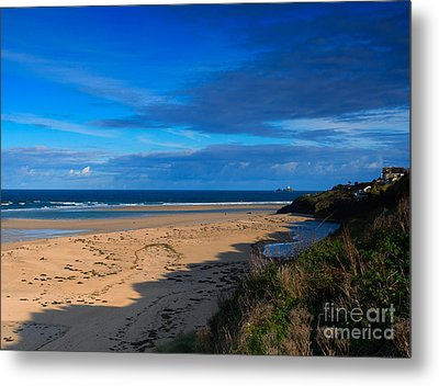 Riviere Sands Cornwall Metal Print by Louise Heusinkveld