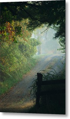 Road Goes On Metal Print by Michael McGowan