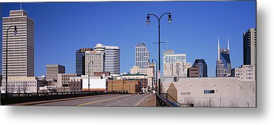Road Into Downtown Nashville Metal Print by Panoramic Images
