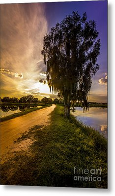 Road Into The Light Metal Print by Marvin Spates