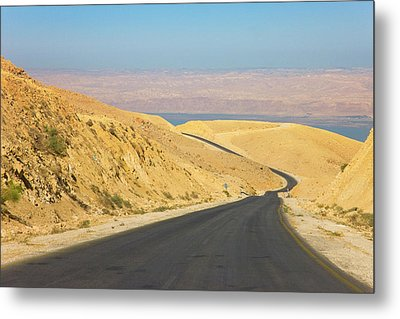Road Leading To The Dead Sea, Jordan Metal Print