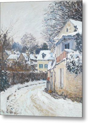 Road Louveciennes Metal Print by Alfred Sisley