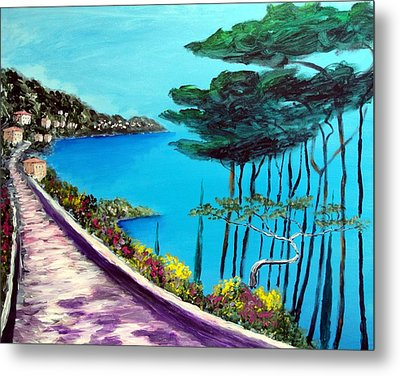 Road On The Riviera Metal Print by Larry Cirigliano