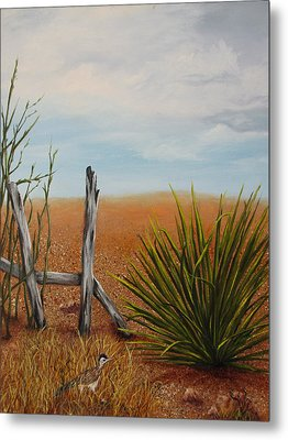 Metal Print featuring the painting Road Runner by Roseann Gilmore