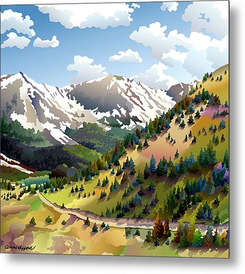 Road To Alma Metal Print by Anne Gifford